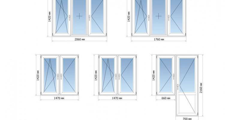 Размеры окон в частном доме